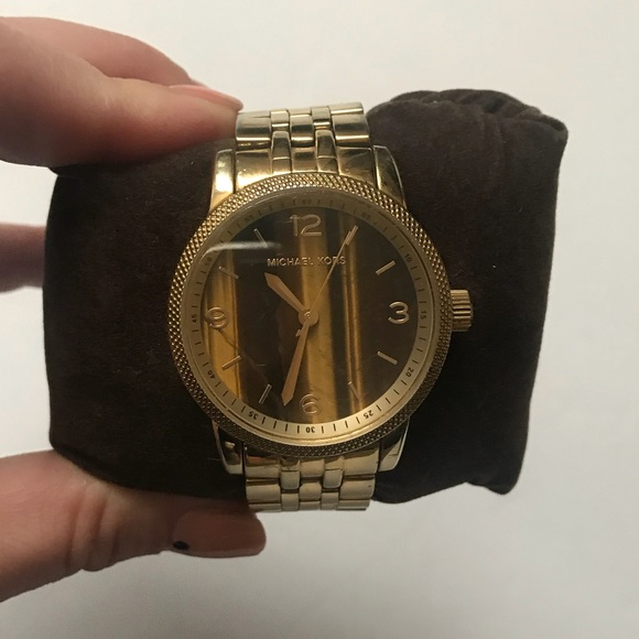 MICHAEL Michael Kors Accessories - Rare Cat Eye and Gold Classic Michael Kors Watch